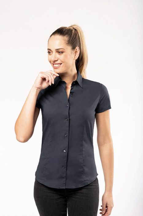Dámská streèová košile s krátkým rukávem