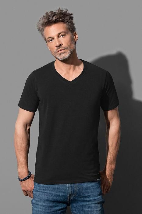 Pánské streèové trièko Dean V-neck